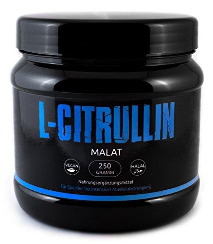 L-CITRULLIN - Malat Pulver | Vegan | Stickstoff - Booster In Deutscher Premiumqualität Für Eine Bessere Durchblutung, Besseren Pump Und Mehr Leistung Beim Training (Vegan & Halal) | NO Stickstoff Booster von Gym - Nutrition
