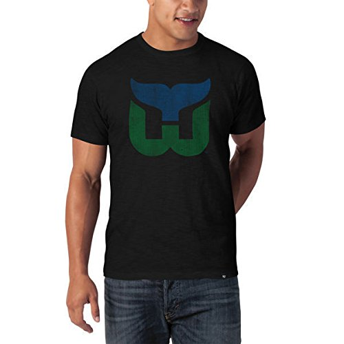 nhl-t-shirt-hartford-whalers-dark-logo-scrum-47-brand-eishockey-l