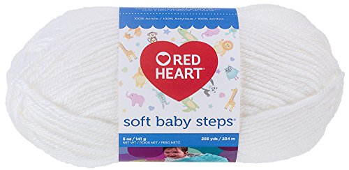 red-heart-soft-baby-steps-yarn-white
