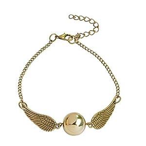 Armband – Mago Harry – Goldener Schnatz – Flügel – Goldfarbe – Goldperle – Frauen – Mädchen – Unisex – Geschenkidee