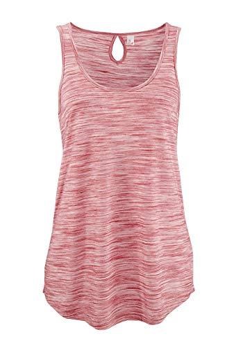 ELFIN Damen Tops Tanktop Rundhals Ärmellos Shirt Lässig Oberteile Täglichen Sport Yoga Tee -