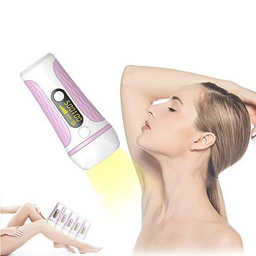 Laser-Haarentfernung IPL-Photonenverjüngung Permanenter Gesichts-Bikini und tragbarer Körper-Epilierer 500.000-Blitz-Laserkopf schmerzfrei und nicht reizend mit LED-Bildschirm