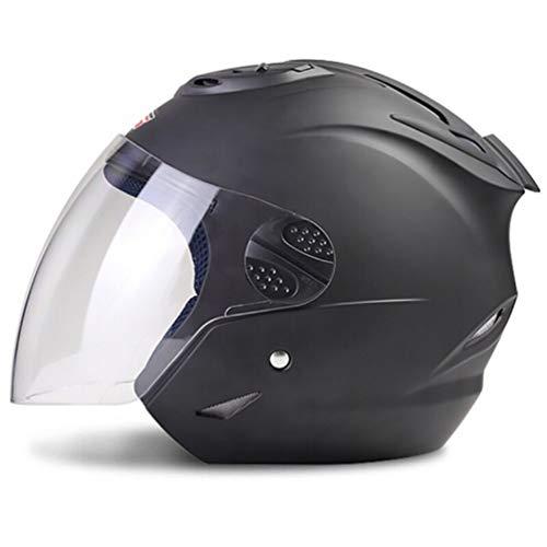 Männer Frauen Moto Motorrad Helm High-Definition/Sonnenbrille Half Face Motorradhelme Alle Jahreszeiten Motocross Sicherheitskappen Einheitliche Größe 56-60 cm