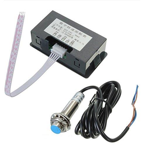 ounona Drehzahlmesser Digital LED Drehzahlmesser + Annäherungssensor Hall NPN