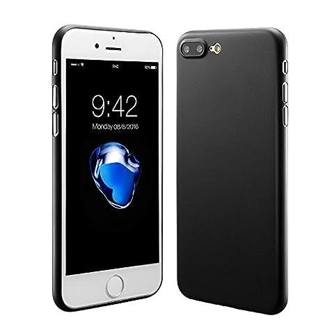 Coque iphone 7 plus, iphone 7 plus case cover 0.3mm Ultra Slim Fin Ultra Mince et Ultra Léger Semi Rigide Bumper en Gel Silicone Housse de Protection Coque Pour Apple iphone7 plus(2016) 5.5 Noir