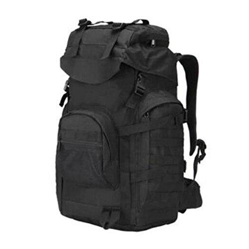 GOUQIN Outdoor Rucksack Klassische Mode Von Outdoor Dual Umhängetaschen Reiten Klettern Große Wasserdichte Taschen Schwarz