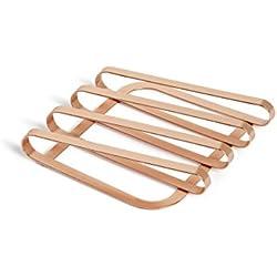 Umbra Pulse Topfuntersetzer – Design Metall Untersetzer für Töpfe, Pfannen, Bleche, Auflaufformen, Teekannen und Mehr, Metall/Kupfer
