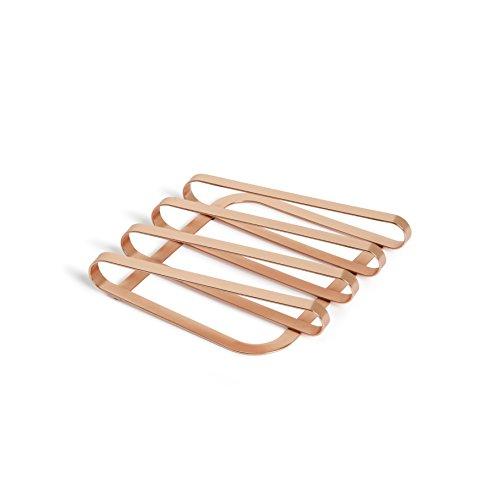 Umbra Pulse Topfuntersetzer - Design Metall Untersetzer für Töpfe, Pfannen, Bleche, Auflaufformen, Teekannen und Mehr, Metall/Kupfer -