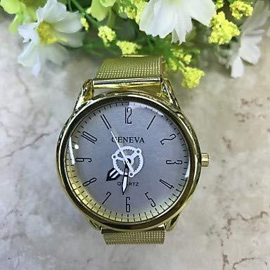 Fashion Watches Schöne Uhren, Herrn Modeuhr Quartz Legierung Band Gold (Farbe : Orange/Black)