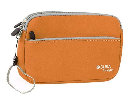 DuraGadget orange Neoprentasche für den Schutz und Transport von medizinischem Zubehör wie zum Beispiel Stethoskope und Blutdruckmessgeräte), mit Zusatzfach für kleinere Teile