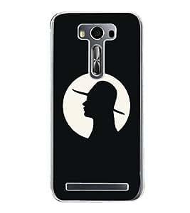 FUSON Ponytail Hairstyle Girl Hat Designer Back Case Cover for Asus Zenfone 2 Laser ZE500KL (5 Inches)
