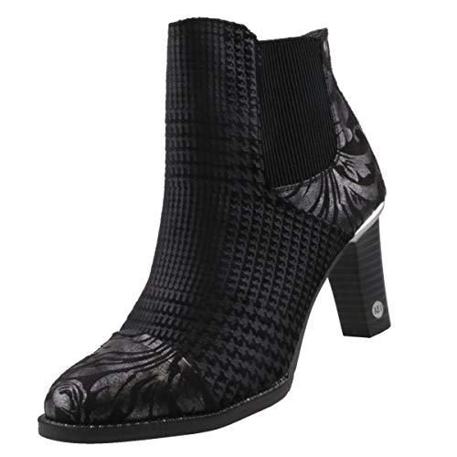 MUSTANG Damen 1335-503-921 Chelsea Boots Schwarz/Silber 921, 41 EU -