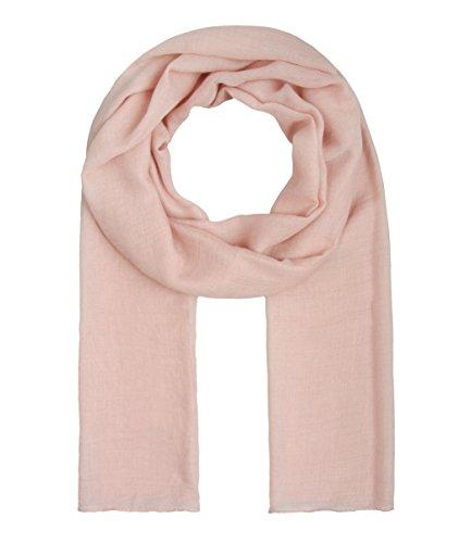 Majea Tuch Lima schmal geschnittenes Damen-Halstuch leicht uni einfarbig dünn unifarben Schal weich Sommerschal Übergangsschal (rosa)