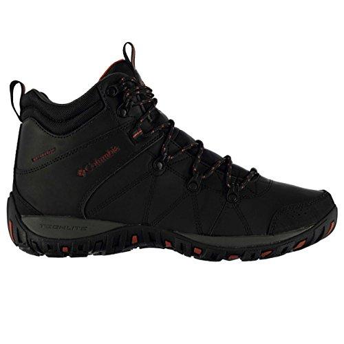 Columbia Herren Peak Leder Wanderstiefel Trekkingstiefel Stiefel Boots Outdoor Schwarz