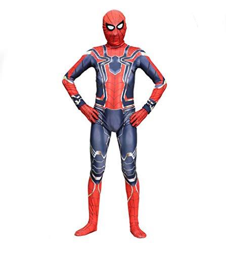 Blue Iron Kostüm Mann - TOYSSKYR Spider-Man Cosplay Kostüm Avengers Iron Spider-Man Halloween Fancy Dress Party Movie Show Kostüm Requisiten (Farbe : Blau, größe : S)