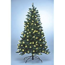 Xenotec PE- Weihnachtsbaum künstlich ca. 150 cm hoch mit 166 LED- warmweißes Licht- Das Original