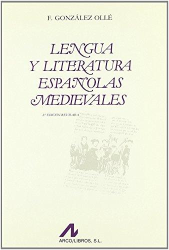 Lengua y literatura españolas medievales (Bibliotheca philologica) de Fernando González Ollé (1993) Tapa blanda