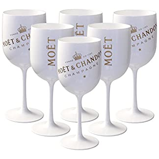 6-x-Mot-Chandon-Ice-Imprial-Acryl-Glas-Champagner-Glser-Set-in-weigold-Champagne-Becher-Kelche-6-Stck