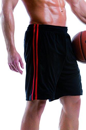 Gamegear - Short de sport -  Homme Noir - Noir/blanc