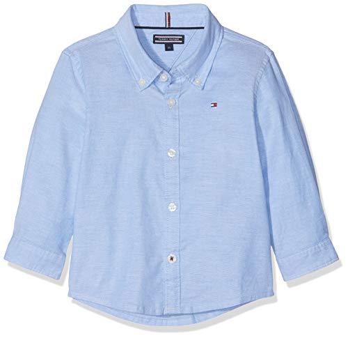 n Boys Stretch Oxford Shirt L/S Hemd, Blau Blue 474, (Herstellergröße: 92) ()