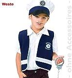 Unbekannt Polizist Kostüm Wachmann Polizeikostüm Kinder Weste Kinderkostüm