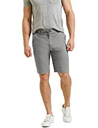 Hommes Lin Short Chino Threadbare Longueur Genou Demi-pantalons Décontracte Été Mode
