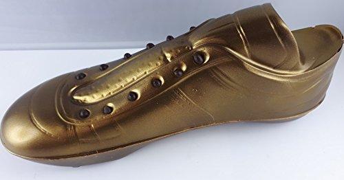 01#061519 Schokolade Fußballschuh, GOLD DEUTSCHLAND, Zartbitter, Fußballer, Fußballspieler, Tor, Schalke, BVB