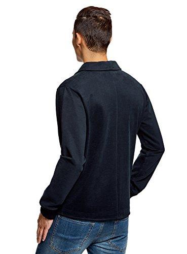 oodji Ultra Uomo Blazer in Maglia con Tasche Blu (7900N)
