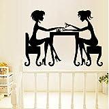 ZBYLL Zwei Mädchen Maniküre Wohnzimmer Schlafzimmer Hintergrund Wasserdicht Wand Aufkleber