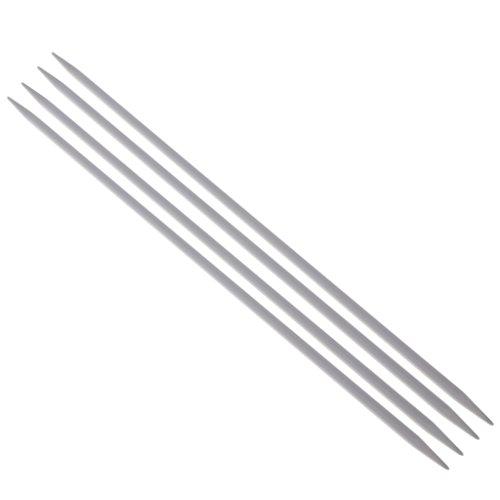 MagiDeal 4 Stück Stricknadel Aluminium Set 2-6mm doppelt Stricknadeln Handschuhe Socken Pullover Nadel - 20 cmx3,5 mm