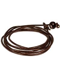 SilberDream Bracelet de Cuir Surfeur style Couleur brun Taille toutes les tailles Bracelet pour homme LA0033B