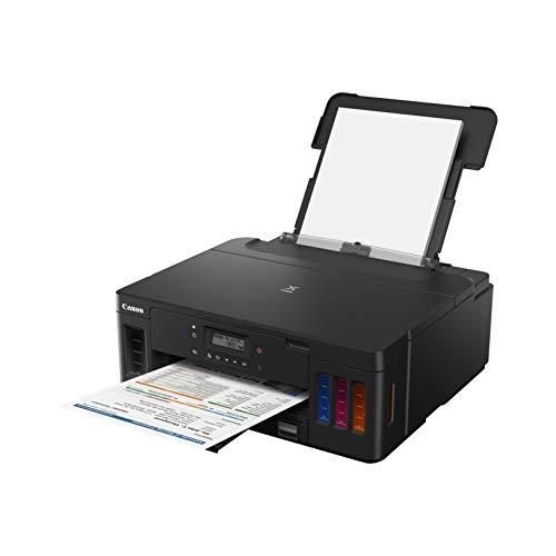 Canon Pixma G5050 Megatank All-in-One nachfüllbarer Tintenstrahldrucker Farbe (Drucker, WiFi, USB 2.0) große Tintenbehälter, Hohe Reichweite, niedrige Seitenkosten -
