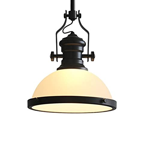 GJY Mattglas Eisen Anhänger Licht Romantische Industrie Wind Retro Industrie Windlampen Cafe Bekleidung Shop Restaurant Bar (Mattglas Bad)