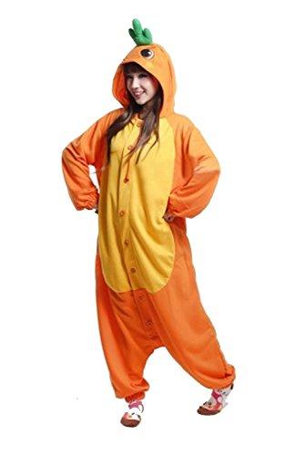 Honeystore Unisex Karotte Erwachsene Jumpsuit Cosplay Kostüm Pyjamas Siamesische Kleidung Freizeitkleidung XL