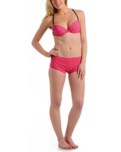 Damen Urban Beach UPF 50+ Bikini Pink Gepunktet