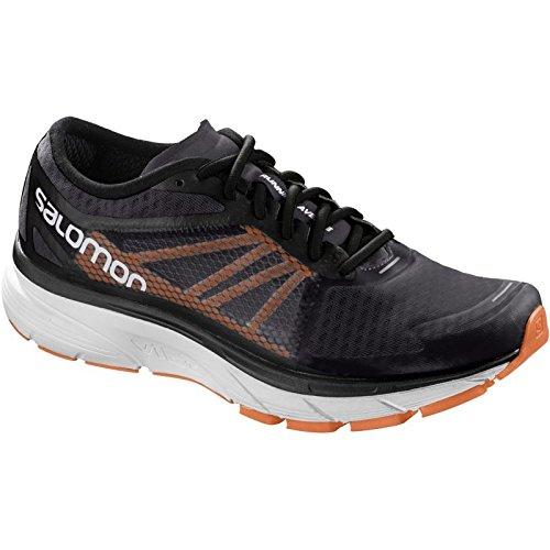 Salomon Sonic RA, Zapatillas de Trail Running para Hombre, Gris (Phantom/Black/Shocking Orange 000), 45 1/3 EU