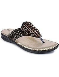 Big Bird Designer Orthopaedic Doctor Sole Comfortable Black Slippers For Womens | Girls
