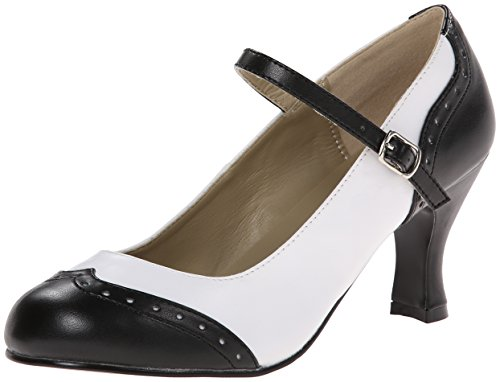 r 25 Pumps &Amp Heels mit Blockabsatz, Black (Blk Wht Pu), Gr. 38 EU( 5 UK) ()