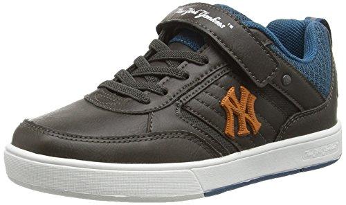 MLB Cormik Low Ev Unisex-Kinder Sneaker Grau - Gris (Shadow Grey/Colibri Blue)