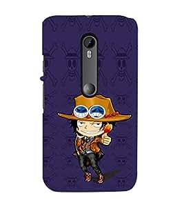 EPICCASE Little Cow Boy Mobile Back Case Cover For Moto G 3rd Gen (Designer Case)