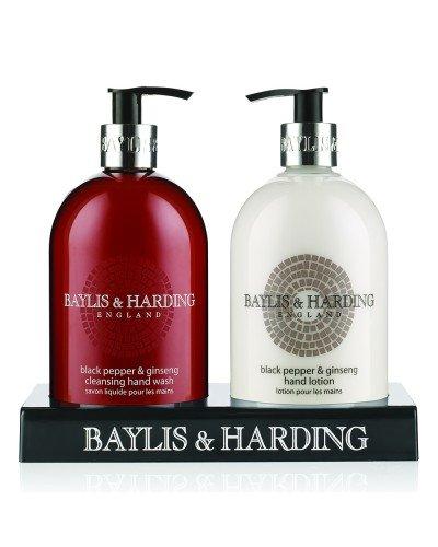 Holland Plastics Original Brand Baylis Und Harding-Black Pepper & Ginseng 500ml-Handwäsche Und Hand Lotion 500ml in Stand Acryl