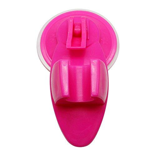 Saugnapf Badezimmer-Halterung Duschkopf Feste Mobile verstellbar Wandtattoo Brustpflege Unterstützung Hot Pink (Duschkopf Halter Halterung)