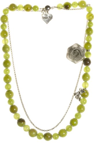 Collana con agata, colore: Verde oliva