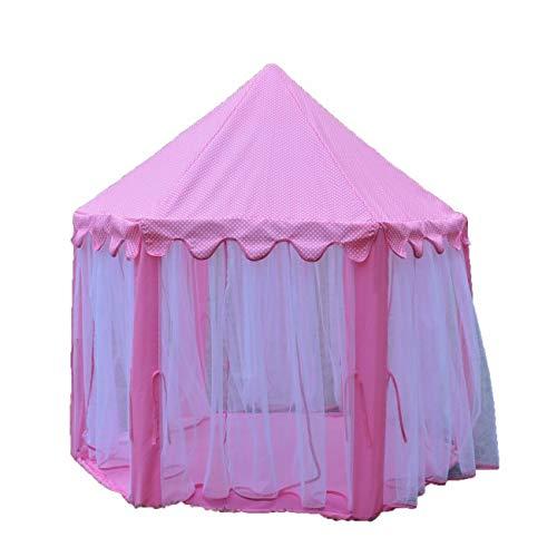 Kinder Pavillion'Spielzelt groß' rosa Zelt Kinderzelt Prinzessinnenhaus Kinderzimmer Dekoration...