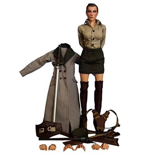 K9CK 30cm Soldat Action Figuren, Soldat Modell Militär mit Zubehör für 1/6 Soldat Actionfigur Modell Spielzeug - Weiblicher - Militär Kostüm Weiblich