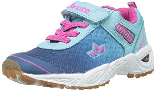Lico Mädchen Barney VS Multisport Indoor Schuhe, Türkis (Türkis/Marine/Pink), 35 EU