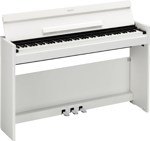 Yamaha YDP-S51WH Digital Piano inkl. Cabinet mit 3 Pedalen (88-Tasten, GH, USB) weiß