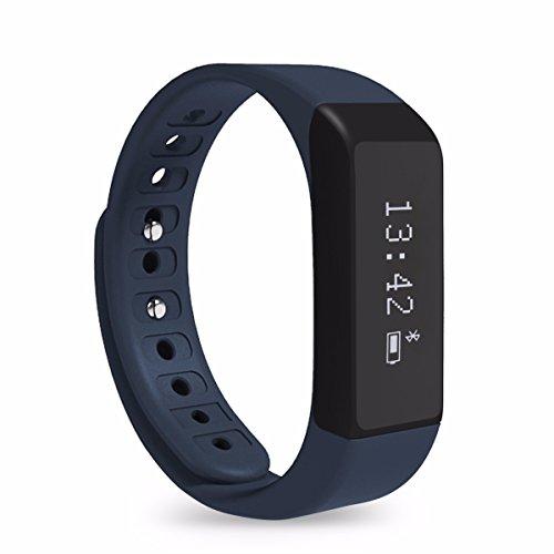 Image of Fitness Tracker, ELEGIANT Sport SmartWatch I5 Plus Bluetooth 4.0 Armband Intelligente Uhren OLED Display Schrittzähler Aktivitätsarmband Fitnessarmband Tracker Wasserdichte IP65 Sportuhr mit Schlafanalyse Schritte Zählen Kalorienanalyse SMS Anrufe Reminde