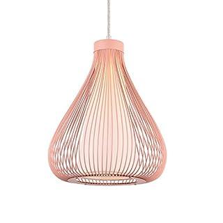 [lux.pro] Metall-Korb Hängeleuchte Nizza Rose E27 Deckenleuchte Leuchte Pendelleuchte