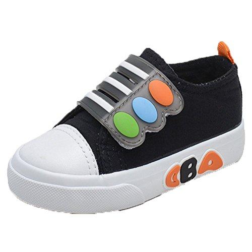 Ohmais Enfants Filles Garçon Chaussure de loisir chaussure de sport souliers Noir